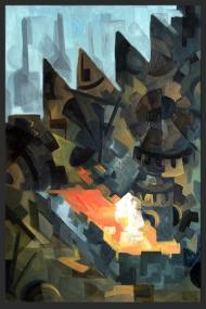 <p>Bruket - oljefärg på masonit (såld), 61 x 43 cm. 2011.</p>
