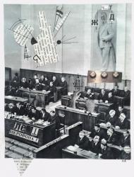 <p>&quot;Ögats talman&quot; (400 kr) - tidningsurklipp på akvarellpapper, 30 x 23 cm. 2016.  </p>