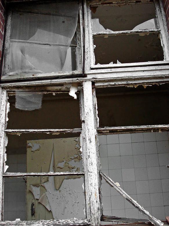 genom fönster