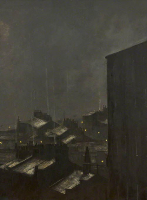 Riley, Harold; Night and Rooftops; University of Salford; http://www.artuk.org/artworks/night-and-rooftops-162900
